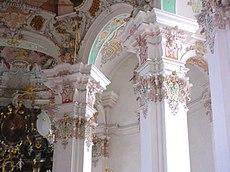 Capitel rococó en Steinhausen.