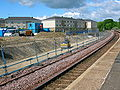 Stewarton Station platform construction works.JPG