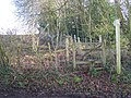 Stile on footpath up the hill - geograph.org.uk - 1155142.jpg