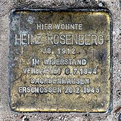 Photo of Heinz Rosenberg brass plaque