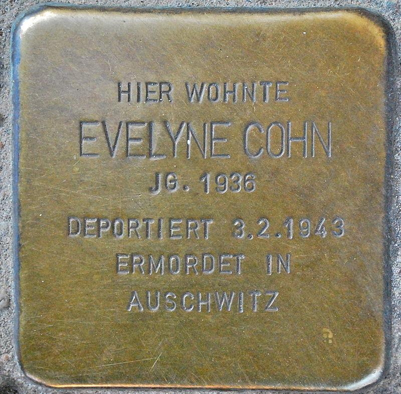 Stolperstein Evelyne Cohn Prenzlauer Allee 200 0088.jpg