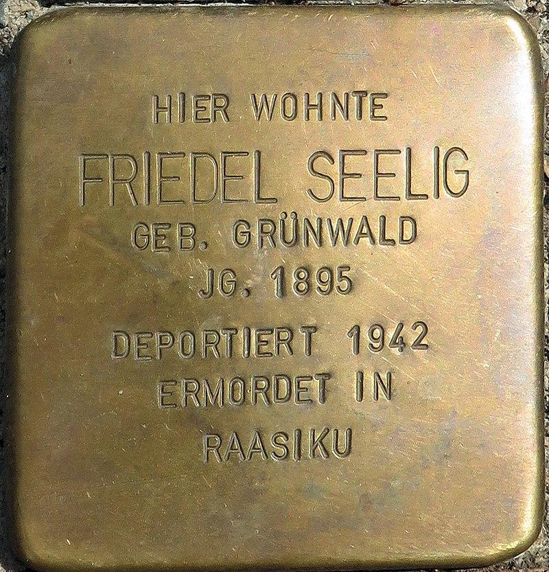 Stolperstein Hessestraße 30 Friedel Seelig