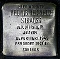 Stolperstein Köln, Hedwig Henriette Strauss (Theresienstraße 19).jpg