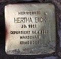 Stolperstein Konstanzer Str 62 (Wilmd) Hertha Bick.jpg