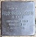 Stolperstein Potsdamer Str 185 (Schöb) Felix Friedensohn.jpg