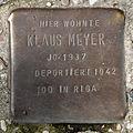 Stolperstein Ritterstr 63 (Kreuz) Klaus Meyer.jpg