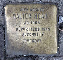 Photo of Walter Noah brass plaque