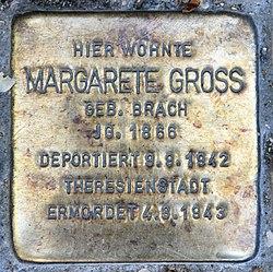 Photo of Margarete Gross brass plaque