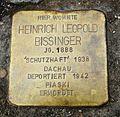 Stolperstein für Heinrich Leopold Bissinger in Neu-Ulm.JPG