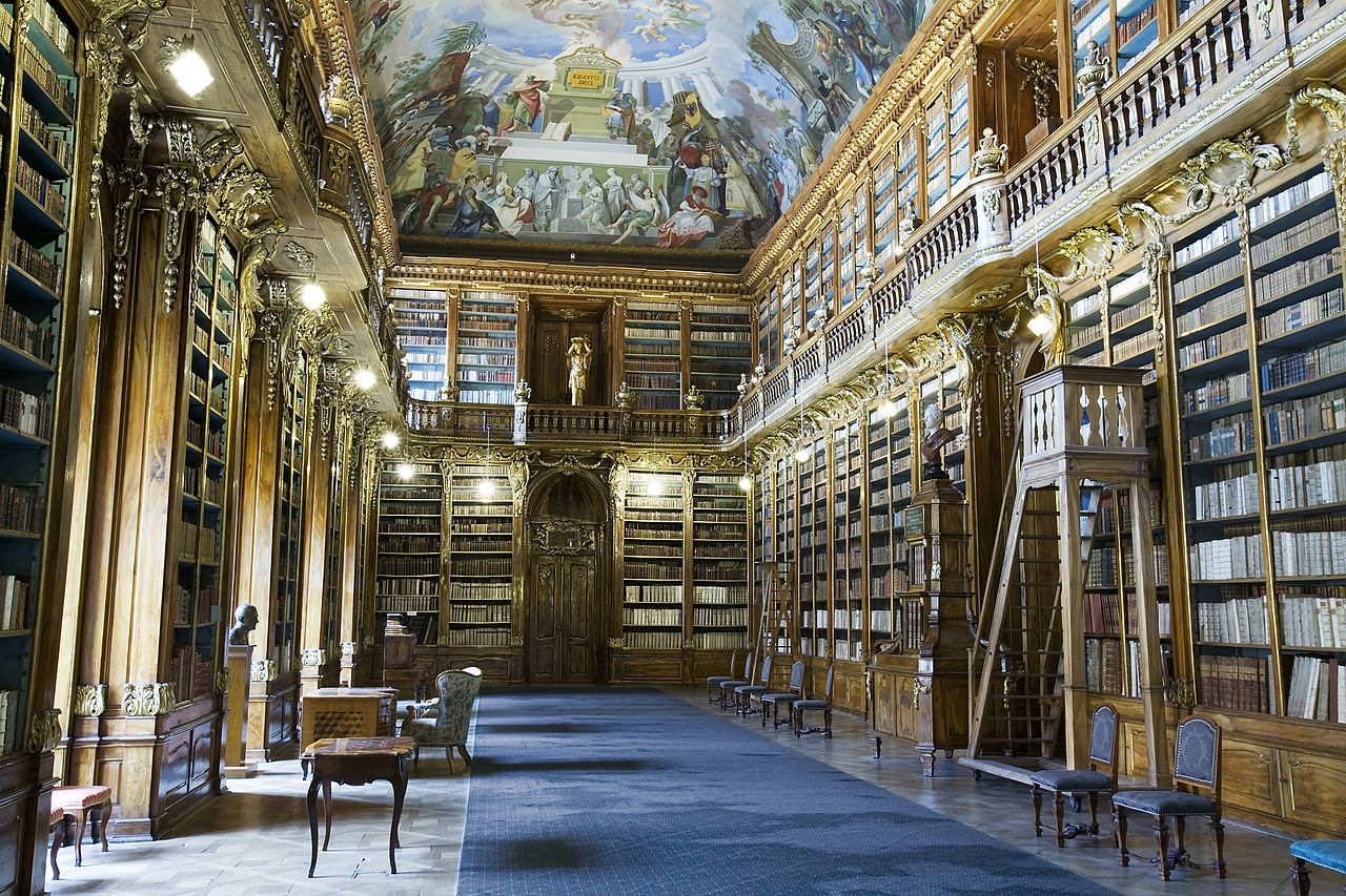 знают, картинка первой библиотеки в мире посёлке