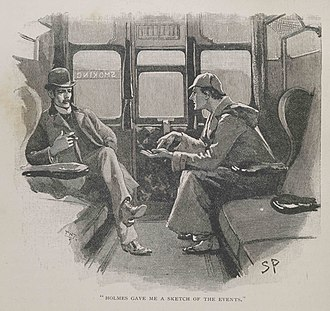 "Sherlock Holmes - Holmes and Watson in a Sidney Paget illustration for ""Silver Blaze""."