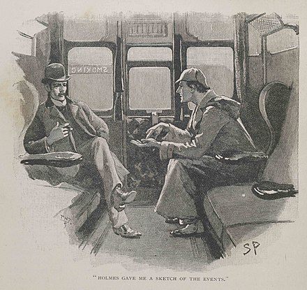 "Holmes and Watson in a Sidney Paget illustration for ""The Adventure of Silver Blaze"" Strand paget.jpg"