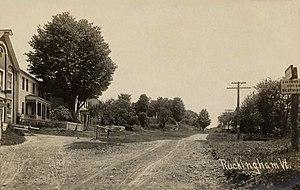 Rockingham, Vermont - Street scene, Rockingham Village, c. 1910