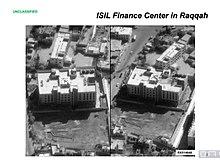 Centro finanziario dell'ISIS ad Al-Raqqa