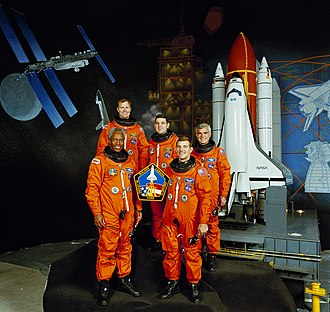 James S. Voss - The STS-53 crew. Voss is second from the right.