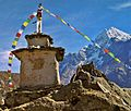 Stupa on the trail to Khumbu and Everest - panoramio.jpg