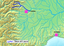 Stura lanzo location.png
