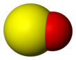 Spacefill model of sulfur monoxide