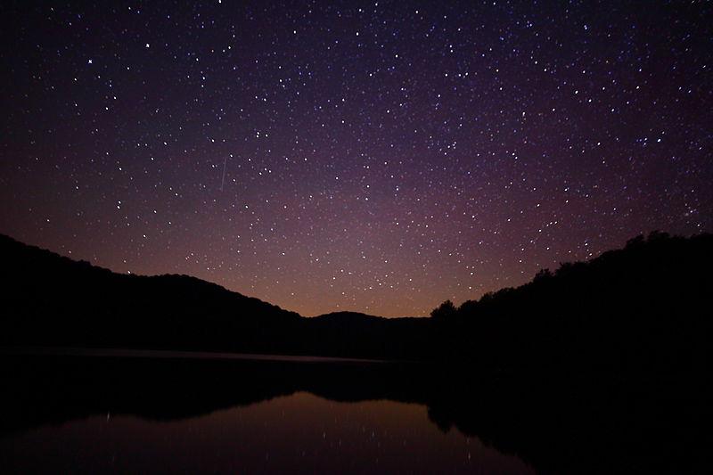 File:Summit-lake-wv-night-sky-reflection - West Virginia - ForestWander.jpg