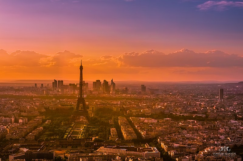 File:Sunset over Paris 5, France August 2013.jpg