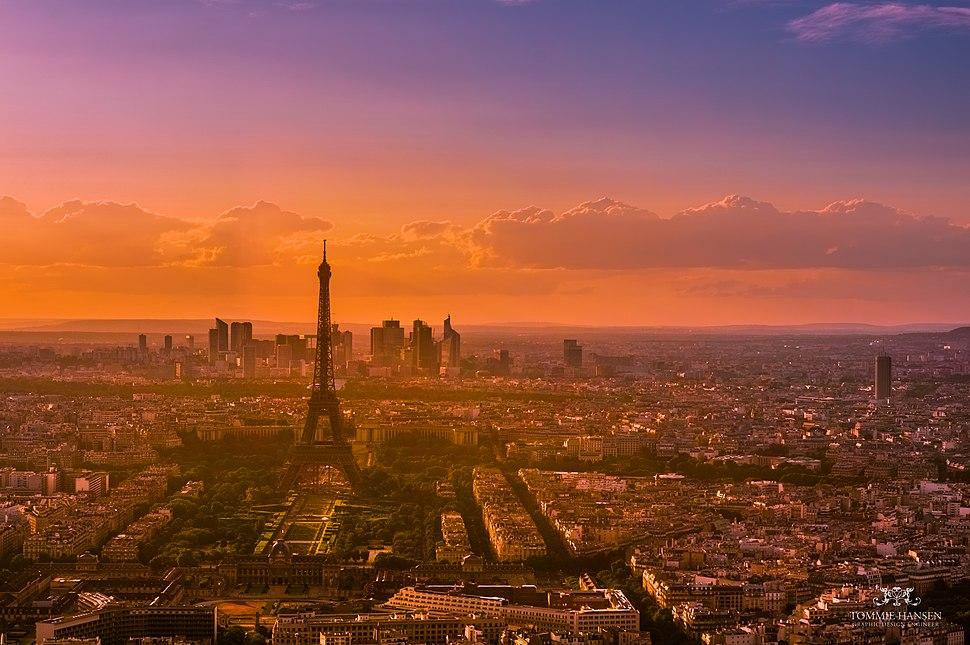 Sunset over Paris 5, France August 2013