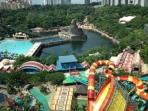 Bandar Sunway - Sunway Lagoon amusement park.