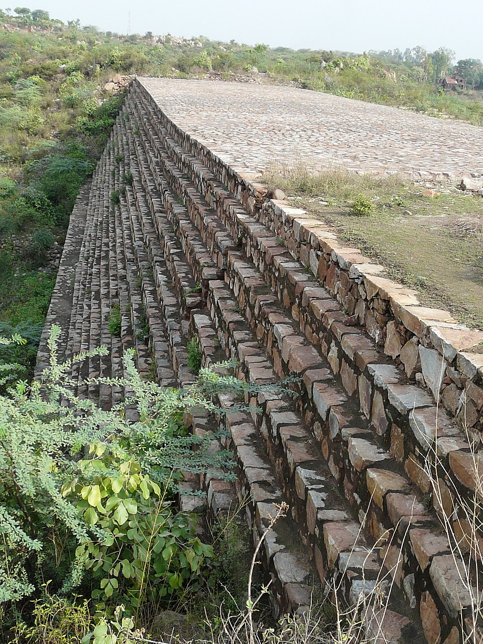 """Surajkund dam """"downstream"""" side"""