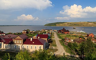 Tatarstan - Sviyazhsk located at the confluence of the Volga and Sviyaga Rivers.