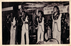 Sweet Sensation (band) - Photo of Sweet Sensation Original Founding Members in an early Competition - Pub Entertainer of the Year