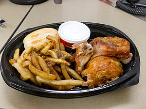 Swiss Chalet - Take-out version of the Quarter Chicken dinner