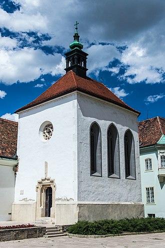 Székesfehérvár - Later Gothic St. Anna Chapel built around 1485.