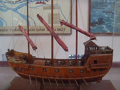 Model of warship used by Nguyễn Huệ in the Battle of Rạch Gầm-Xoài Mút - Vietnam People's Navy