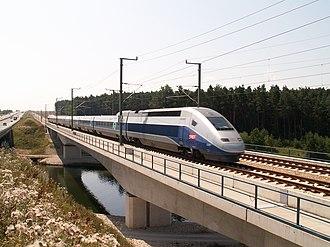 Nuremberg–Munich high-speed railway - Image: TGV POS Nuremberg Ingolstadt