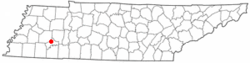 Location of Henderson, Tennessee