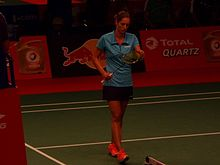 TOTAL BWF World Champs 2015 Day 2 Carla Nelte.jpg