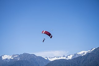 Parachuting Action sport of exiting an aircraft and returning to Earth using a parachute