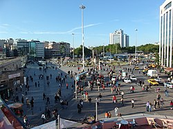 View of Taksim Square from Burger King