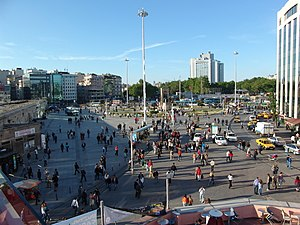 2010 Istanbul bombing - View of Taksim Square
