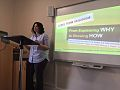 Tal livne presents Challenge 22 at Oxford Ethics of Food conference 2016.jpg