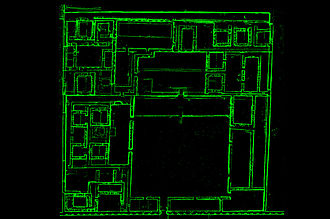 Tambo Colorado - Plan of Northern Palace, Tambo Colorado, cut from a Laser Scan. Data is derived from a CyArk/University of California research partnership