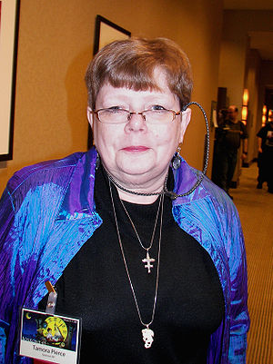 Tamora Pierce - Pierce at the Boskone science fiction convention in Boston, February 2008