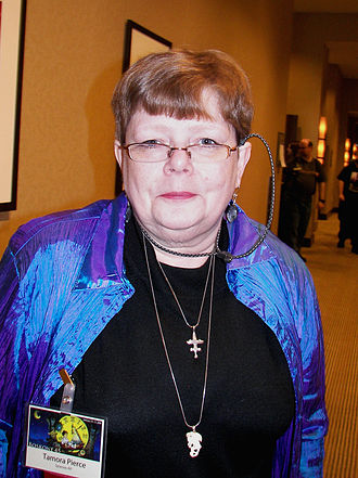 Tamora Pierce - Pierce at the Boskone science fiction convention in Boston, February 2008