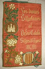 Tapestry dedicated to the Orfeó Català by the town of Sitges