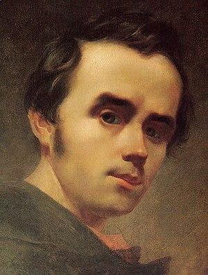 Ukrainian literature - Image: Taras Shevchenko selfportrait oil 1840 2