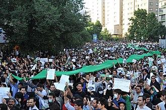 Liberalism in Iran - Protesters in Tehran, 16 June 2009
