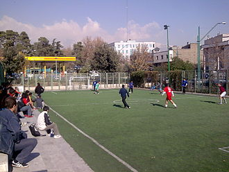 Football in Iran - A football field in Tehran