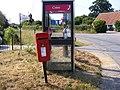 Telephone and Postbox, Little Poys Street, Sibton - geograph.org.uk - 1394716.jpg