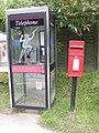 Telephone and Postbox, Main Street, Sweffling - geograph.org.uk - 1429324.jpg