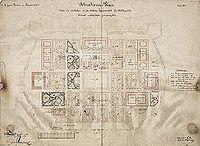 Planimetria della fortezza di Terezin del 1869