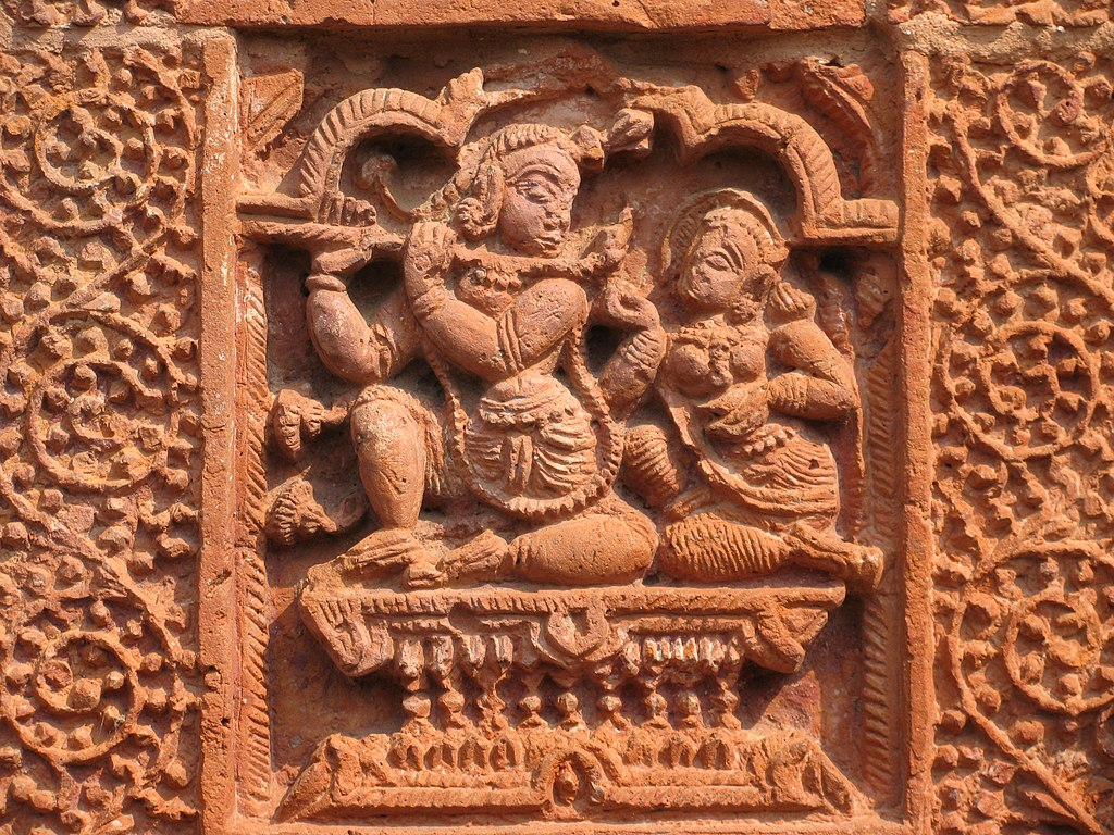 Terracota work at Brindaban Chandra's Math.jpg